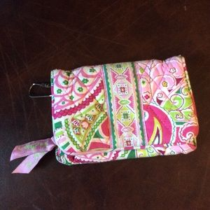 Vera Bradley kiss lock zipper wallet